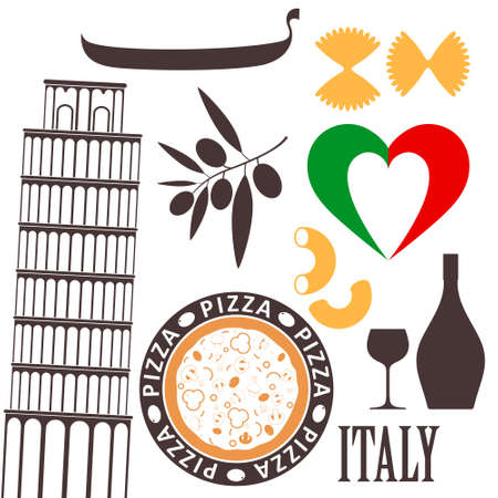 Italy sign collection Vector