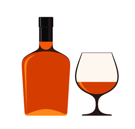 cognac: Cognac on white