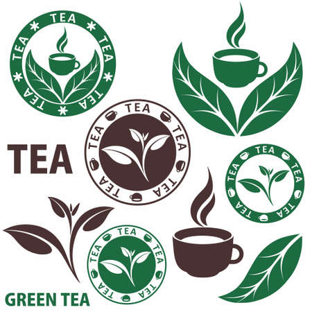saludable logo: Té Vectores