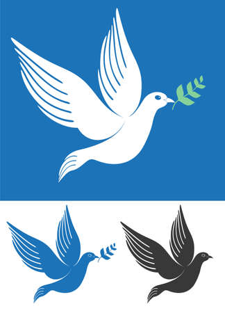 dove with olive branch: Dove