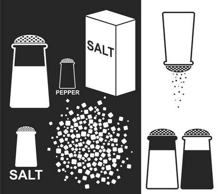 salt shaker: Salt Pepper illustration