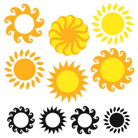 Sun illustrations