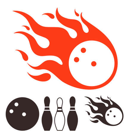 individual sport: Bowling icon  Illustration