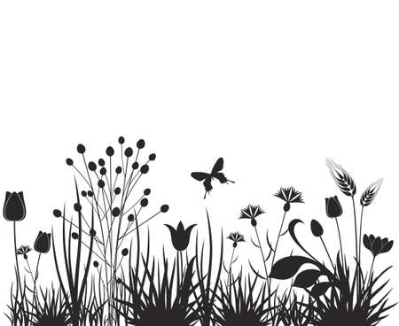 grass silhouette: Meadow illustration