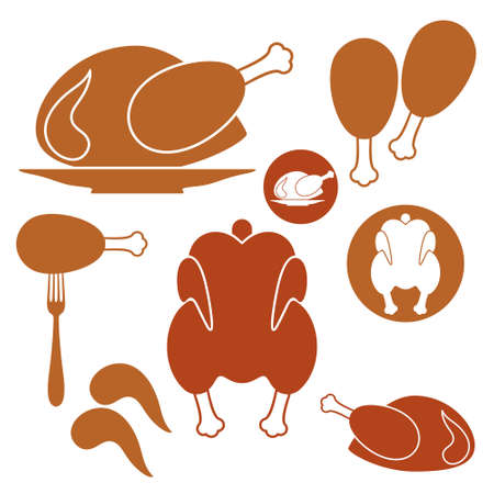 Chicken. Barbecue Grill Vector