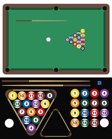 bola de billar: Ilustración Juego de Pool Vectores