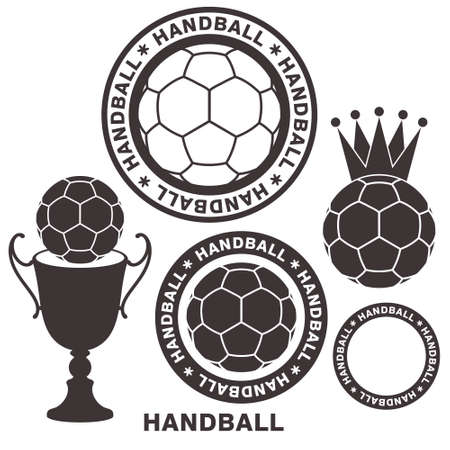 team sport: Handball Illustration