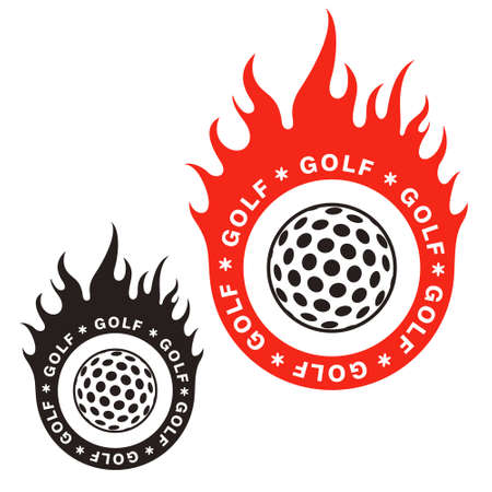 red ball: Golf illustration