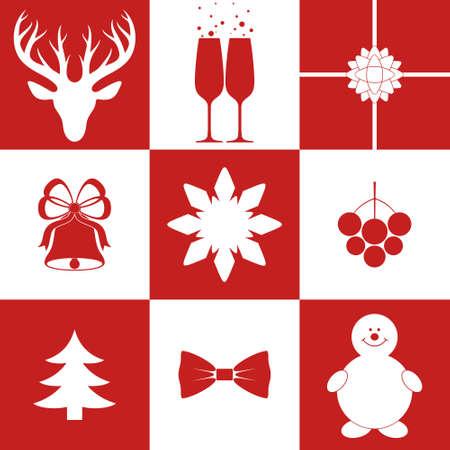 Christmas. Icon Set Vector