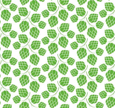 hop plant: Hop. Pattern Illustration