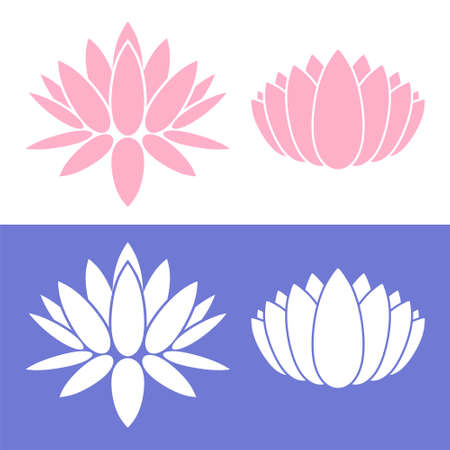 lily flowers set: water lily concept Illustration