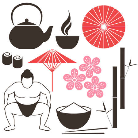 brown rice: Japanese culture Illustration