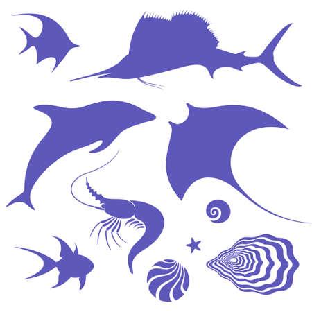 swordfish: Sea life Illustration
