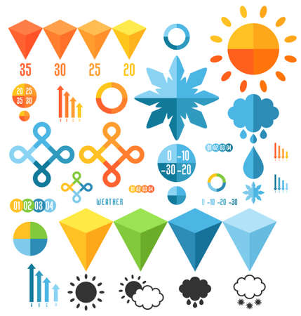 Weather. Set of infographics elements Vector
