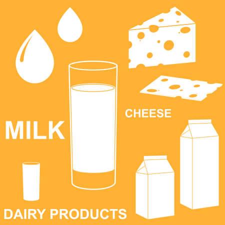 milk drop: Dairy Product Illustration