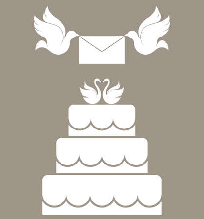 wedding cake isolated: Wedding cake