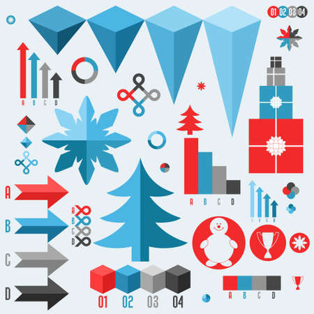 Christmas. Set of infographics elements Vector