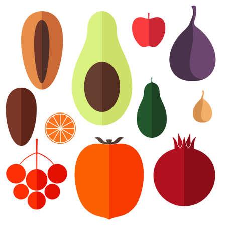 date fruit: Fruits. Icon Set