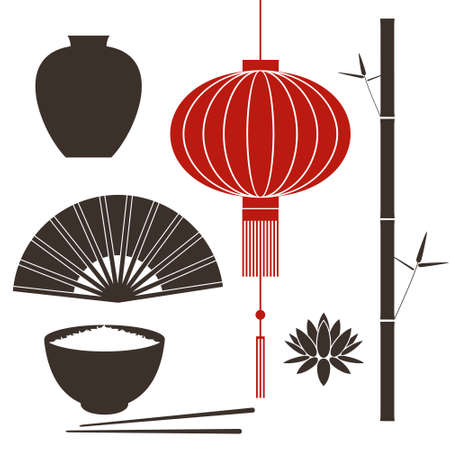 chinese lantern: Asia design element