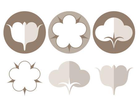 cotton: Cotton. Icon set