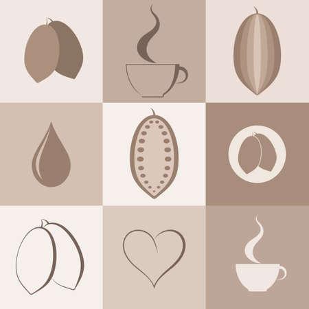 Cocoa. Icon set
