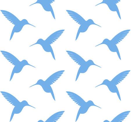 birds of paradise: Hummingbird. Pattern