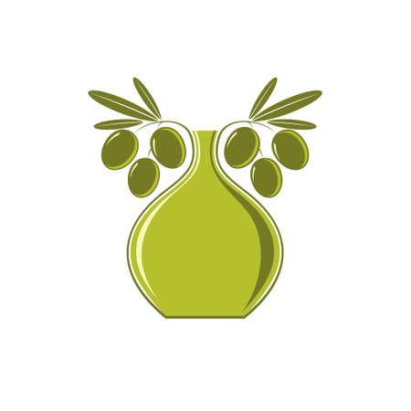 aceite de oliva virgen extra: Aceite de oliva Vectores