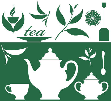 tea leaf: Tea. Set