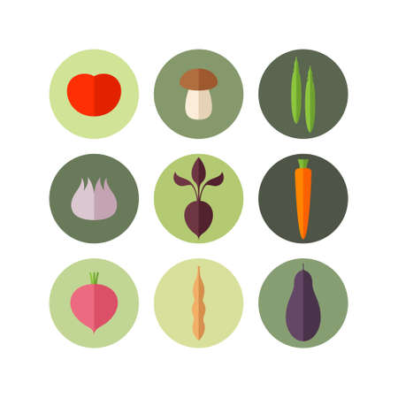 beet root: Vegetable. Icon set