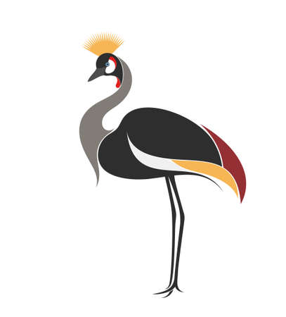 crane bird: Crowned crane