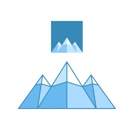 european alps: Mountain symbol Illustration