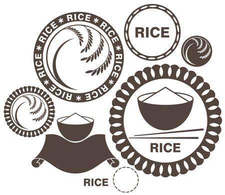 arroz blanco: Arroz Vectores