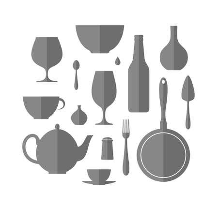 kitchen utensil: Kitchen utensil. Icon set