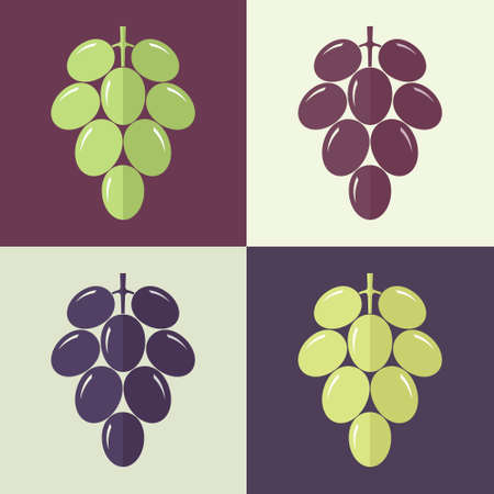 red grape: Grape. Set