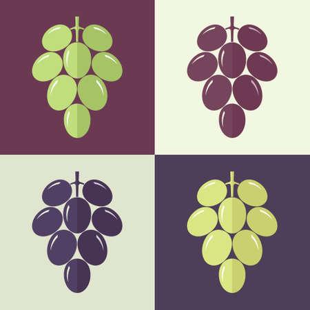 grapes: Uva. Set Vectores