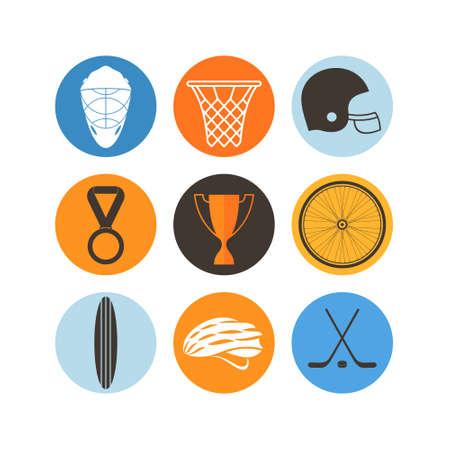 Sport. Icon set Vector