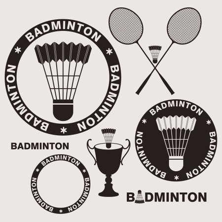 badminton racket: Badminton Illustration
