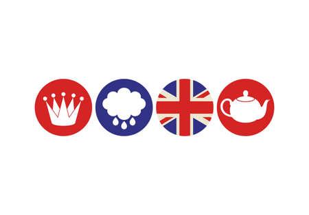 english culture: London. Icon set