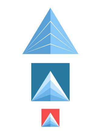 european alps: Mountain. Icon set