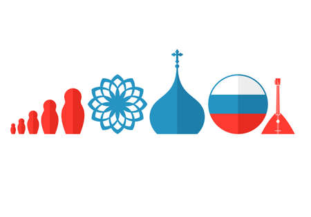 nested: Russia. Icon set