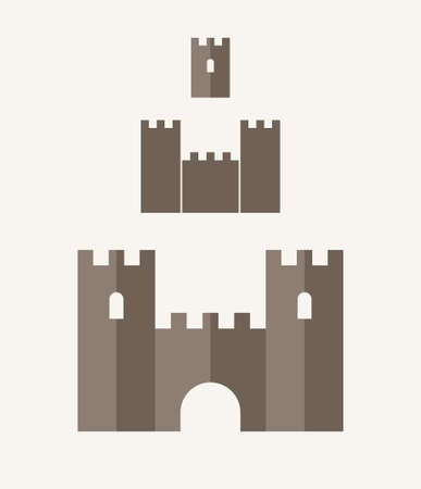 castle silhouette: Castle. Icon set