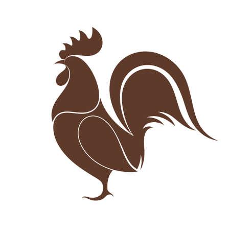 animal cock: Gallo Vettoriali