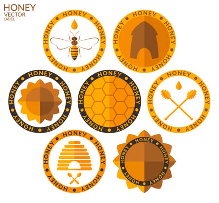 Honey. Set Vector