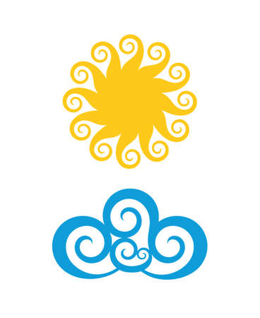 blue logo: Sun. Cloud