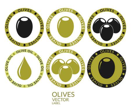aceite de oliva virgen extra: Etiqueta de oliva Vectores