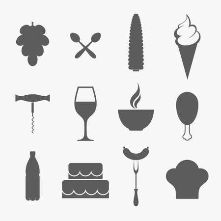 food icon set: Food. Icon set