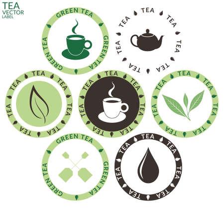 green tea leaves: Tea. Set