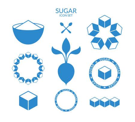 砂糖。アイコン セット