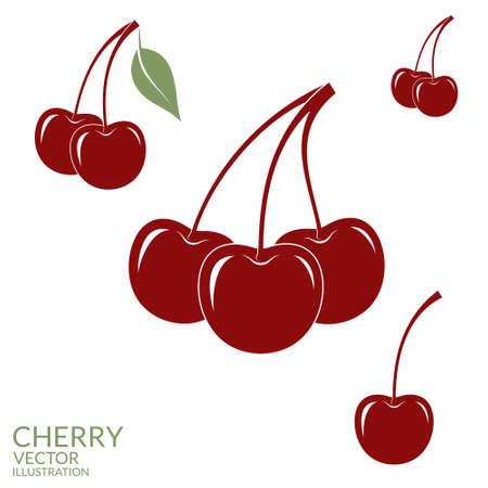 Cherry. Set Vector