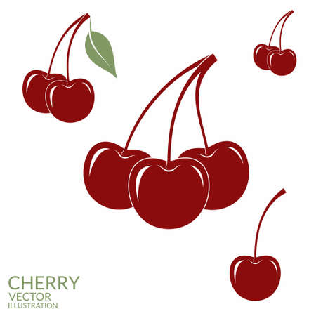 cherry: Cherry. Set Illustration